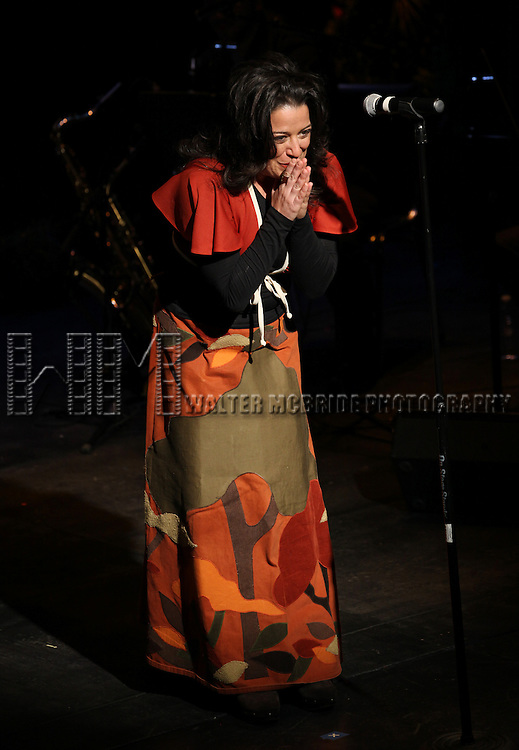 Sheri Sanders performing in 'The Concert - A Celebration of Contemporary Musical Theatre' at The Second StageTheatre in New York City on 1/21/2013