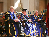 Dignitaries, including the Vice Chancellor Prof. Chris Snowden (nearest camera), at the Graduation Ceremony, University of Surrey.