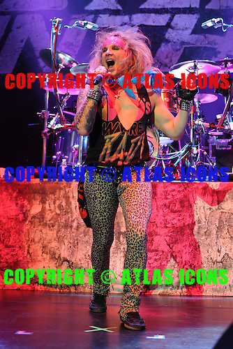 HOLLYWOOD FL - OCTOBER 30 : Michael Starr of Steel Panther performs at Hard Rock Live held at the Seminole Hard Rock Hotel & Casino on October 30, 2014 in Hollywood, Florida. : Credit Larry Marano (C) 2014
