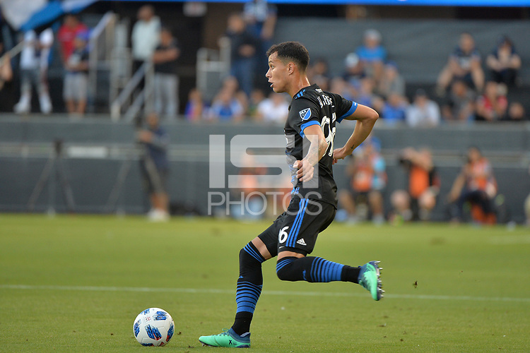 San Jose, CA - Saturday August 18, 2018: Luis Felipe during a Major League Soccer (MLS) match between the San Jose Earthquakes and Toronto FC at Avaya Stadium.