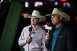 Anthony Lucia and Colby Yates during second round of the Fort Worth Stockyards Pro Rodeo event in Fort Worth, TX - 6.29.2019 Photo by Christopher Thompson
