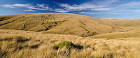 View across Old Man Range, Central Otago, New Zealand - stock photo, canvas, fine art print