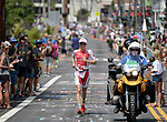 KONA, HAWAII - OCTOBER 14:  Daniela Ryf of Switzerland runs en route to her victory during the 2017 IRONMAN World Championships on October 12, 2017 in Kona, Hawaii. (Photo by Donald Miralle for IRONMAN)