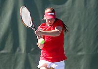 Taylor Davidson, with the Stanford Women's Tennis team. Photo taken on Monday, September 23, 2013
