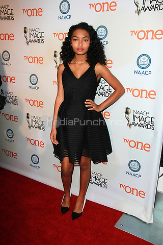 PASADENA, CA - FEBRUARY 5: Yara Shahidi at the 46th NAACP Image Awards Non-Televised Ceremony at the Pasadena Convention Center in Pasadena, California on February 5, 2015. Credit: David Edwards/Dailyceleb/MediaPunch