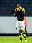 Stockholm 2015-07-30 Fotboll Kval Uefa Europa League  AIK - Atromitos FC :  <br /> AIK:s Kenny Pavey deppar efter matchen mellan AIK och Atromitos FC <br /> (Foto: Kenta J&ouml;nsson) Nyckelord:  AIK Gnaget Tele2 Arena UEFA Europa League Kval Kvalmatch Atromitos FC Grekland Greece depp besviken besvikelse sorg ledsen deppig nedst&auml;md uppgiven sad disappointment disappointed dejected