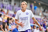 Orlando, FL - Saturday July 20, 2019:  Alanna Kennedy #14 during a regular season National Women's Soccer League (NWSL) match between the Orlando Pride and the Sky Blue FC at Exploria Stadium.