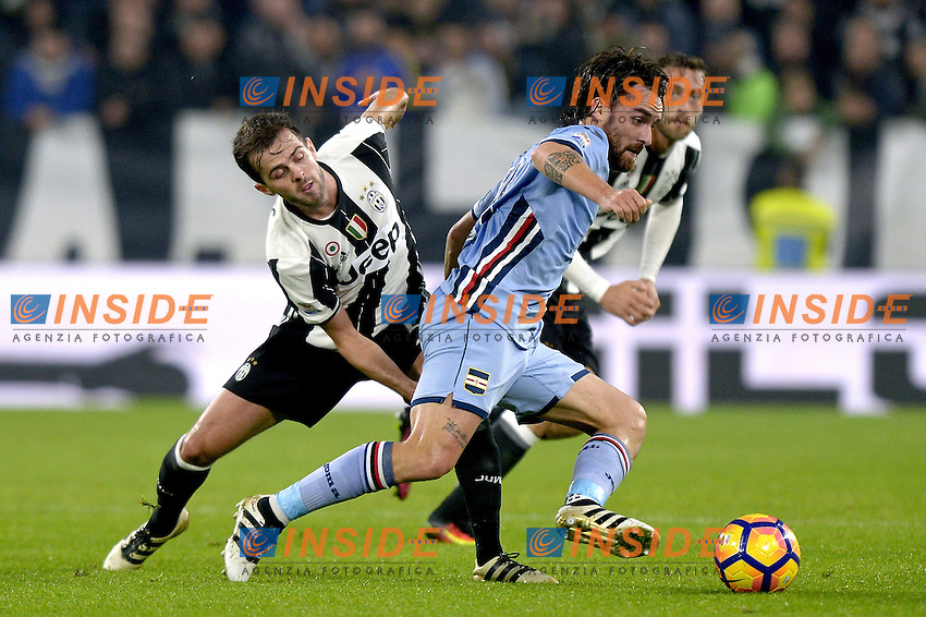 Luca Cigarini Sampdoria, Miralem Pjanic Juventus,<br /> Torino 26-10-2016, Juventus Stadium, Football Calcio 2016/2017 Serie A, Juventus - Sampdoria, Foto Filippo Alfero/Insidefoto