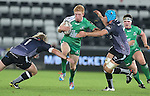 Ospreys pair Duncan Jones and Justin Tipuric close the gap on Connacht replacement Darragh Leader.<br /> Guiness Pro12<br /> Ospreys v Connacht<br /> Liberty Stadium<br /> 31.10.14<br /> &copy;Steve Pope-SPORTINGWALES