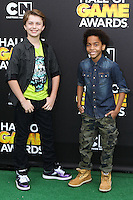 SANTA MONICA, CA, USA - FEBRUARY 15: Terrell Ransom; Jacob Hopkins at the 4th Annual Cartoon Network Hall Of Game Awards held at Barker Hangar on February 15, 2014 in Santa Monica, California, United States. (Photo by David Acosta/Celebrity Monitor)