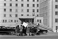 FILE PHOTO -  Union protest at Maisonneuve-Rosemont Hospital, March 1973.<br /> <br /> Photo : Alain Renaud<br />  - Agence Quebec Presse