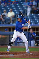 Tulsa Drillers first baseman Lars Anderson (16) at bat during a game against the Midland RockHounds on June 2, 2015 at Oneok Field in Tulsa, Oklahoma.  Midland defeated Tulsa 6-5.  (Mike Janes/Four Seam Images)