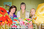 Mary Buckley, Siobhain Fleming both Killarney and Aine Walsh Firies display their paintings at the Adult art class exhibition in Killarney Community College on Thursday..