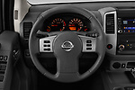 Car pictures of steering wheel view of a 2019 Nissan Frontier SV 4 Door Pick Up
