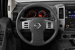Car pictures of steering wheel view of a 2019 Nissan Frontier SV 4 Door Pick Up