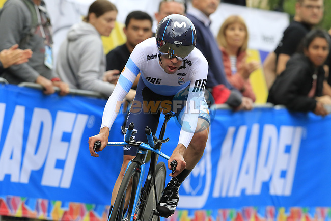 Eduardo Sepulveda (ARG) in action during the Men Elite Individual Time Trial of the UCI World Championships 2019 running 54km from Northallerton to Harrogate, England. 25th September 2019.<br /> Picture: Eoin Clarke | Cyclefile<br /> <br /> All photos usage must carry mandatory copyright credit (© Cyclefile | Eoin Clarke)