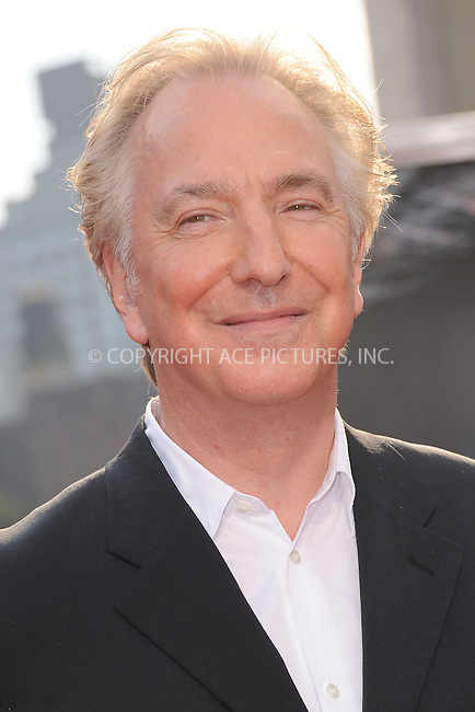 WWW.ACEPIXS.COM . . . . . .July 11, 2011...New York City...Alan Rickman attends the New York premiere of 'Harry Potter And The Deathly Hallows: Part 2' at Avery Fisher Hall, Lincoln Center on July 11, 2011 in New York City...Please byline: KRISTIN CALLAHAN - ACEPIXS.COM.. . . . . . ..Ace Pictures, Inc: ..tel: (212) 243 8787 or (646) 769 0430..e-mail: info@acepixs.com..web: http://www.acepixs.com .