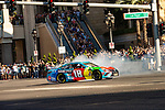 #18 Kyle Busch  during NASCAR's Burnout Blvd. Driven By Goodyear