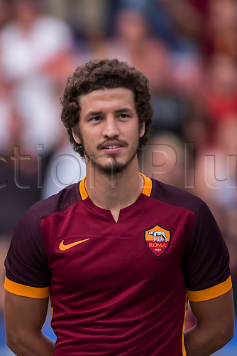 14.08.2015. Stadio Olimpico, Rome, Italy.  Salih Ucan (Roma) AS Roma team presentation before the Pre-season friendly match against Sevilla FC at Stadio Olimpico in Rome, Italy.