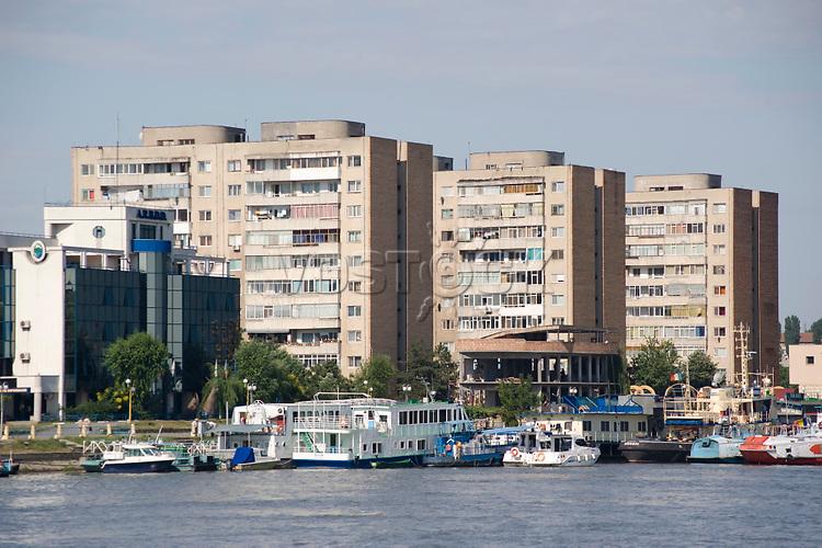 High rise apartment buildings, Tulcea, Romania, Europe