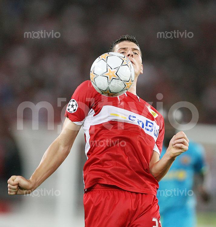 Fussball International UEFA Champions League  VFB Stuttgart - FC Barcelona Mario Gomez (VFB) mit Ball