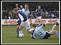 01/02/2003                   Copyright Pic : James Stewart.File Name : stewart-falkirk v st john 04.FALKIRK'S JOHN HENRY IS TRIPPED BY DARREN DODS IN THE PENALTY BOX BUT REF HUGH DALLAS WAVES PLAY ON......James Stewart Photo Agency, 19 Carronlea Drive, Falkirk. FK2 8DN      Vat Reg No. 607 6932 25.Office     : +44 (0)1324 570906     .Mobile  : +44 (0)7721 416997.Fax         :  +44 (0)1324 570906.E-mail  :  jim@jspa.co.uk.If you require further information then contact Jim Stewart on any of the numbers above.........
