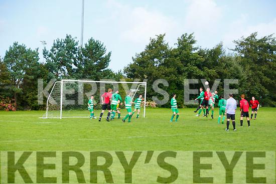 Action  at the  Tralee Dynamos v Killarney Celtic at Cahermoneen on Sunday