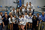 INDIANAPOLIS, IN - MARCH 18: The University of California celebrates their second place finish during the Division I Women's Swimming & Diving Championships held at the Indiana University Natatorium on March 18, 2017 in Indianapolis, Indiana. (Photo by A.J. Mast/NCAA Photos via Getty Images)