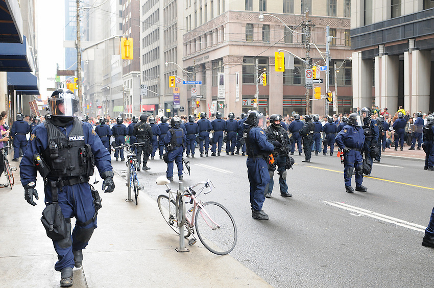 Toronto G 20 Protest Police Line Police Presence G 20 Protest Front Line g20 protesters