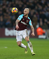 West Ham United's Marko Arnautovic<br /> <br /> Photographer Rob Newell/CameraSport<br /> <br /> The Premier League - West Ham United v Watford - Saturday 10th February 2018 - London Stadium - London<br /> <br /> World Copyright &copy; 2018 CameraSport. All rights reserved. 43 Linden Ave. Countesthorpe. Leicester. England. LE8 5PG - Tel: +44 (0) 116 277 4147 - admin@camerasport.com - www.camerasport.com