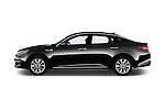 Car Driver side profile view of a 2016 KIA Optima Sense 4 Door Sedan Side View