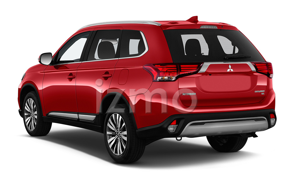 Car pictures of rear three quarter view of a 2019 Mitsubishi Outlander SEL 5 Door SUV angular rear