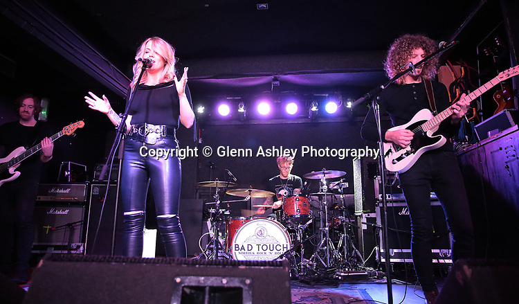 Mollie Marriott performing on the opening night of their UK tour at the Corporation, Sheffield, United Kingdom, 9th November 2017. Photo by Glenn Ashley.