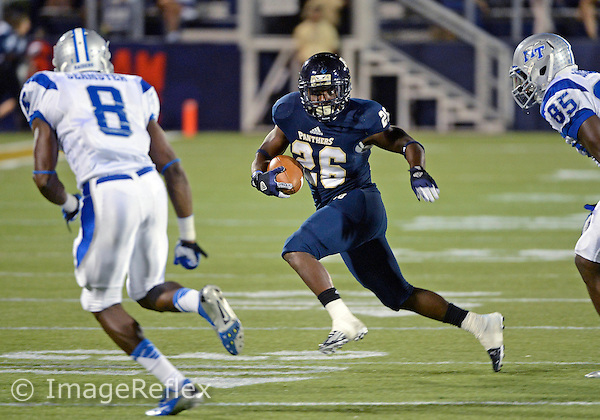 Florida International University football player running back Darian Mallary (26) plays against Middle Tennessee State University on October 13, 2012 at Miami, Florida. MTSU won the game 34-30. .