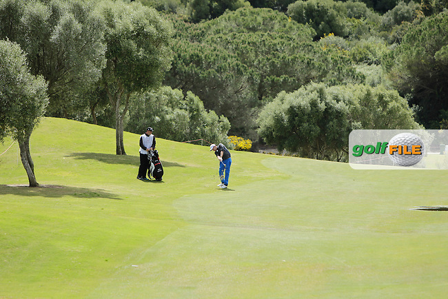 Maximilian Kieffer (GER)  during Round 1 of the NH Collection Open at the La Reserva de Sotogrande Club de Golf in Cadiz Spain on Thursday 3rd April 2014<br /> Picture:  Thos Caffrey / www.golffile.ie