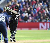 Jun 6th, The SSE SWALEC, Cardiff, Wales; ICC Champions Trophy; England versus New Zealand; Martin Guptill of New Zealand hit the ball for 4