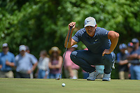 Brooks Koepka (USA) lines up his par putt on 8 during round 4 of the Fort Worth Invitational, The Colonial, at Fort Worth, Texas, USA. 5/27/2018.<br /> Picture: Golffile | Ken Murray<br /> <br /> All photo usage must carry mandatory copyright credit (© Golffile | Ken Murray)