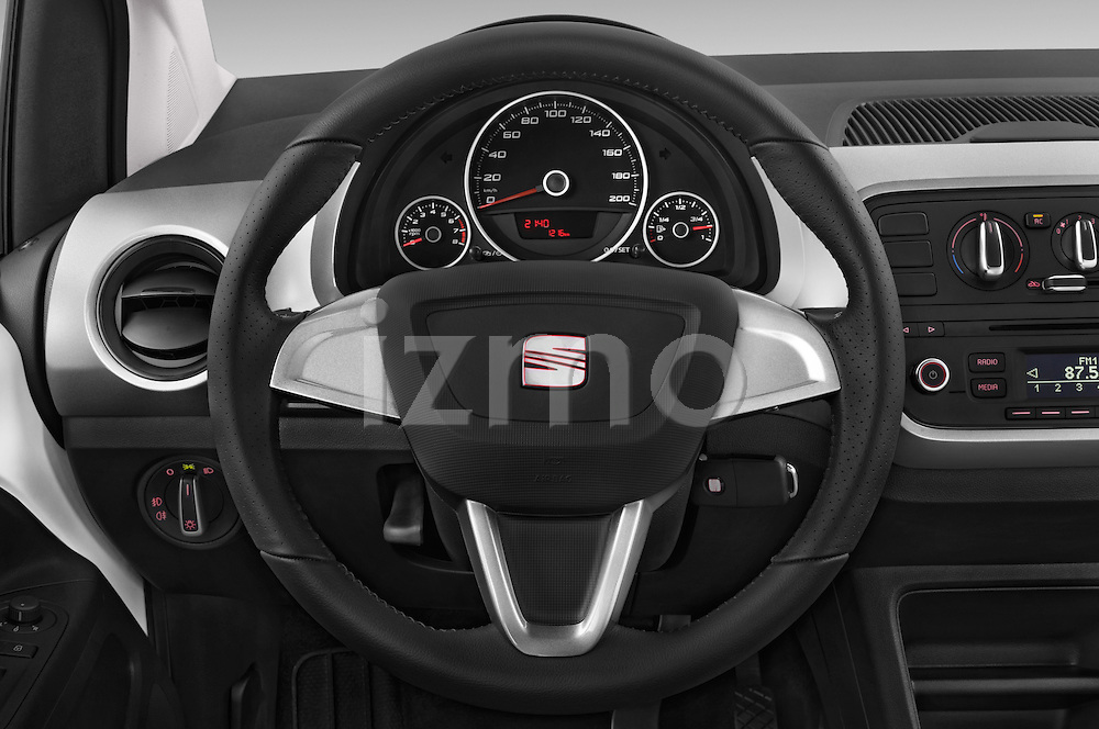 Car pictures of steering wheel view of a 2014 Seat MII Style 5 Door Hatchback 2WD Steering Wheel