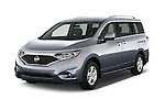 2015 Nissan Quest SV 5 Door Minivan Angular Front stock photos of front three quarter view