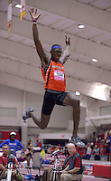 NWA Democrat-Gazette/BEN GOFF @NWABENGOFF<br /> Athletes compete in the long jump Friday, Feb. 10, 2017 during the Tyson Invitational at the Randal Tyson Track Complex in Fayetteville.