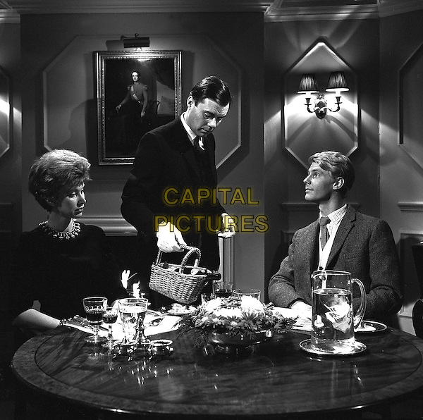 Dirk Bogarde, James Fox<br /> in The Servant (1963) <br /> *Filmstill - Editorial Use Only*<br /> CAP/NFS<br /> Image supplied by Capital Pictures
