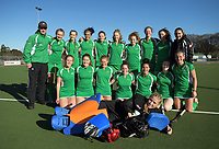 The Manawatu team poses for a group photo after winning the National Women's Association Under-18 Hockey Tournament 3rd place playoff match between Manawatu and Tauranga at Twin Turfs in Clareville, New Zealand on Saturday, 15 July 2017. Photo: Dave Lintott / lintottphoto.co.nz
