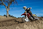 Telephoto lens: Motocross enthusiasts ride the track at Zaca Station off of HWY 101 in Los Olivos, California, on Saturday January 19, 2013.