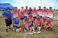 The Horowhenua Kapiti men's team. 2017 Bayleys Central Regional Sevens at Playford Park in Levin, New Zealand on Saturday, 9 December 2017. Photo: Dave Lintott / lintottphoto.co.nz