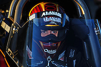 Jan 25, 2009; Chandler, AZ, USA; NHRA top fuel dragster driver Larry Dixon during testing at the National Time Trials at Firebird International Raceway. Mandatory Credit: Mark J. Rebilas-