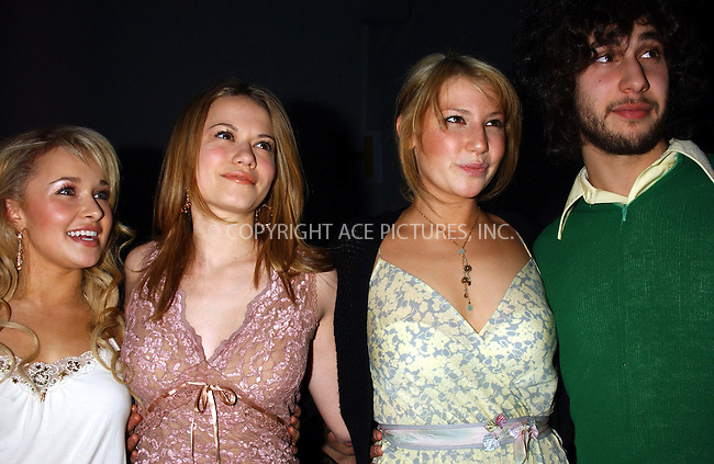 WWW.ACEPIXS.COM . . . . . ....NEW YORK, FEBRUARY 8, 2005....Bethany Joy Lenz, Hayden Panettierre, Jack Antonoff and Ari Graynor at the Rebecca Taylor Fall 2005 show.....Please byline: KRISTIN CALLAHAN - ACE PICTURES.. . . . . . ..Ace Pictures, Inc:  ..Philip Vaughan (646) 769-0430..e-mail: info@acepixs.com..web: http://www.acepixs.com