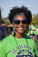 Beautiful woman, Seahawks 12K Run 2016, The Landing, Renton, Washington, USA.
