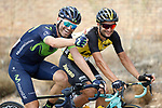 Breakaway men Jos&eacute; Joaquin Rojas (ESP) Movistar Team and Juan Jos&eacute; Lobato (ESP) Lotto NL-Jumbo during Stage 13 of the 2017 La Vuelta, running 198.4km from Coin to Tomares, Seville, Spain. 1st September 2017.<br /> Picture: Unipublic/&copy;photogomezsport | Cyclefile<br /> <br /> <br /> All photos usage must carry mandatory copyright credit (&copy; Cyclefile | Unipublic/&copy;photogomezsport)