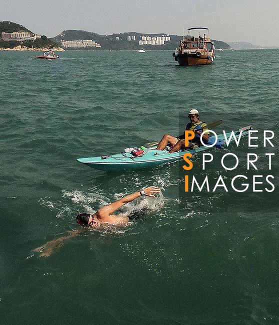 Swimers in action during The Clean Half Open Water Challenge 2012 in Hong Kong on 6 October 2012. Photo by Raf Sanchez / The Power of Sport Images