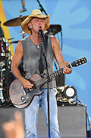 NEW YORK, NY - JULY 8: Kenny Chesney performs on ABC's 'Good Morning America' at SummerStage at Rumsey Playfield, Central Park on July 8, 2016 in New York City. Credit: John Palmer / MediaPunch